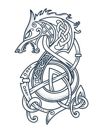 dragon emblem on the sails of viking ships