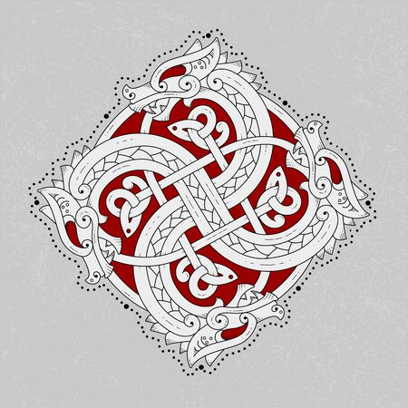 the snake is depicted as a Viking ornament