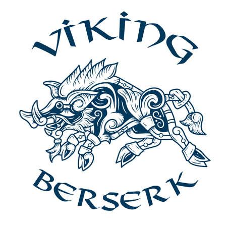 emblem of the terrible berserk Illusztráció