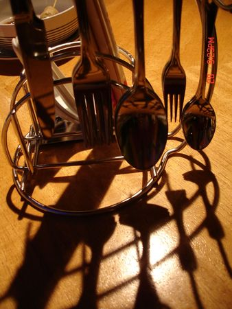 Cutlery and shadow
