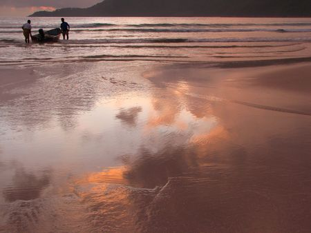 Landscape at a beach