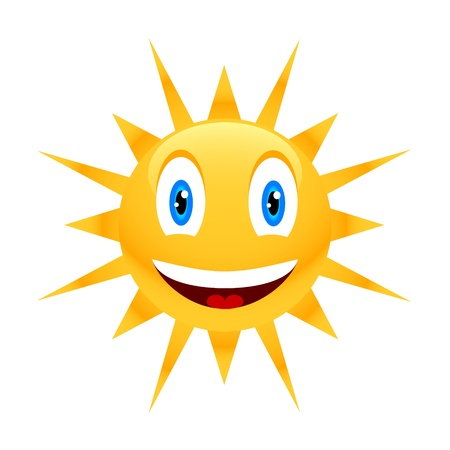 Sun icon located on a white background Stock Vector - 12291468
