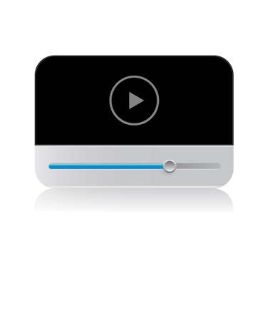 Universal player on a white background photo