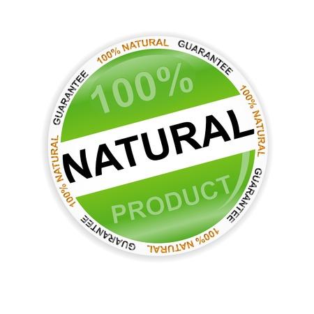 Groene natuurlijke symbool op een witte achtergrond