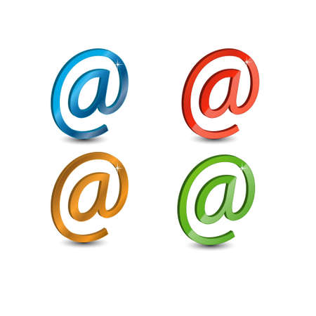 Signs e-mail located on a white background photo