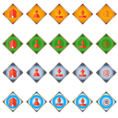 Twenty web icons of different styles Stock Vector - 12682184
