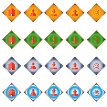 programme: Veinte iconos web de diferentes estilos