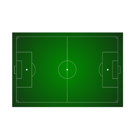 Green football ground Vector