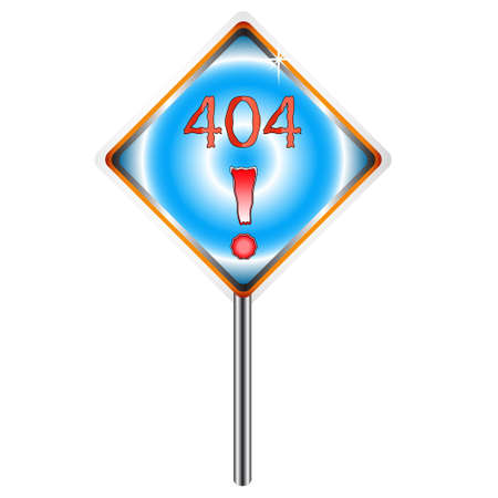 Sign 404 located on a white background Stock Vector - 12682183