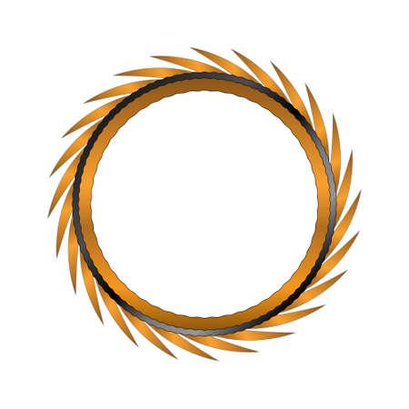 bordering: Oro marco para el texto o una imagen Vectores