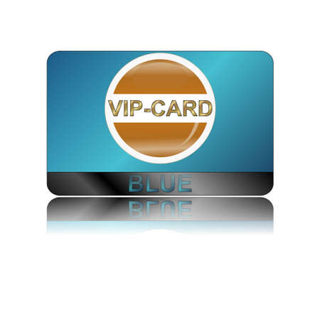 Blue vip card on a white background Vector