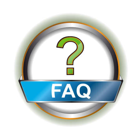 following: Faq web icon on a white background Illustration
