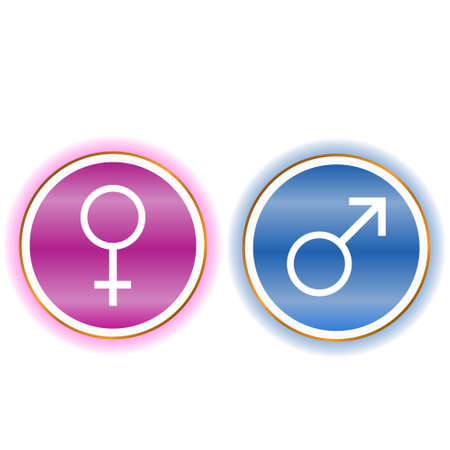 Woman and man icon on a white background Stock Vector - 12682228