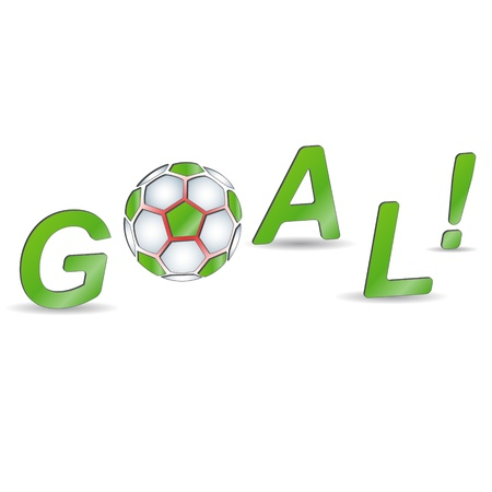 soccer referee: Football shout and broken off ball on a white background