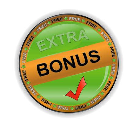 Gold bonus icon on a white background Vector