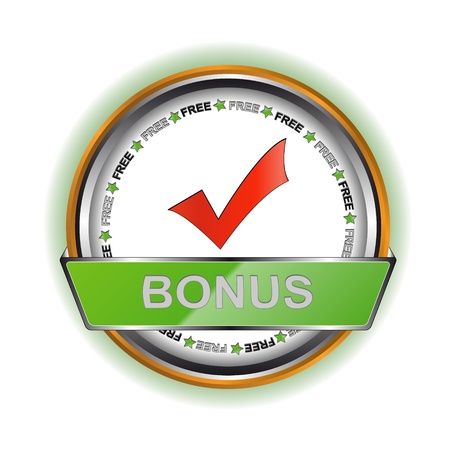 Unique white bonus icon Vector