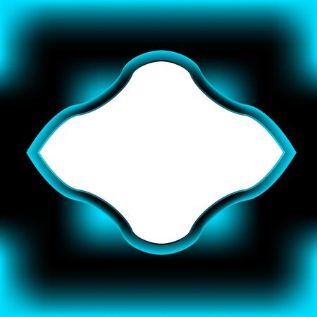 bordering: Original negro-azul marco para el texto o una imagen Vectores