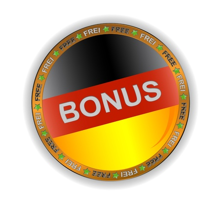 German bonus symbol located on a white background Vector
