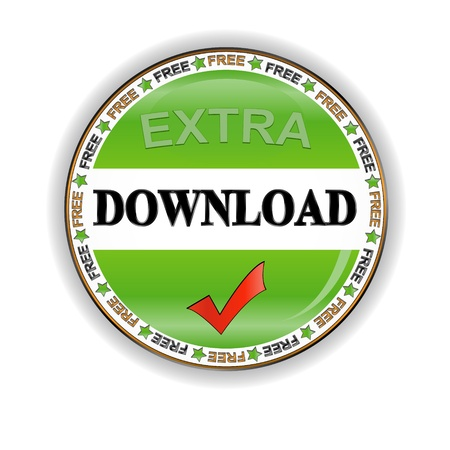 Download icon located on a white background Stock Photo - 12963421