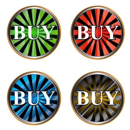 Set from four different icons a buy Vector