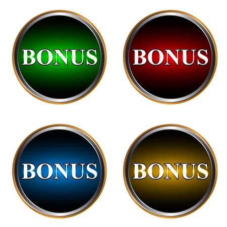Set from four icons a bonus Vector