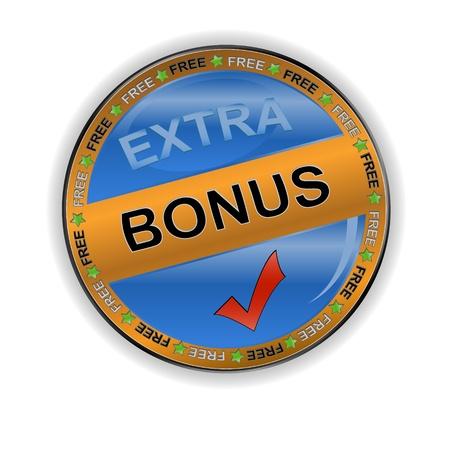 Gold bonus icon on a white background