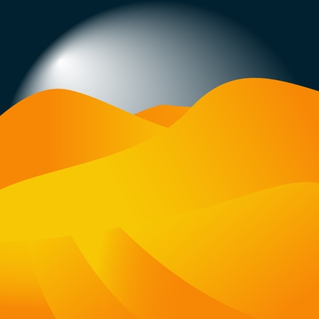 sandy: Abstract background in the form of sandy mountains in a night-time