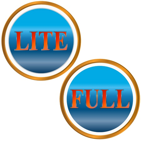 lite: Lite and full symbol on a white background
