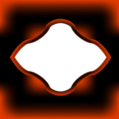 bordering: Original negro-naranja marco para el texto o una imagen