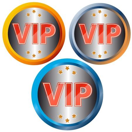 Unique vip symbols on a white background Vector