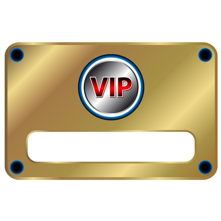 Unique vip symbol on a white background Illustration