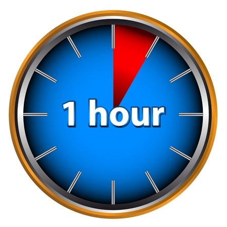 Unique icon of hours with time on it Vector