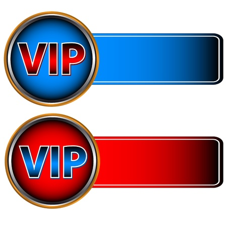 Unique vip symbols on a white background