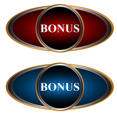 Two multi-colored bonus icons on a white background Vector