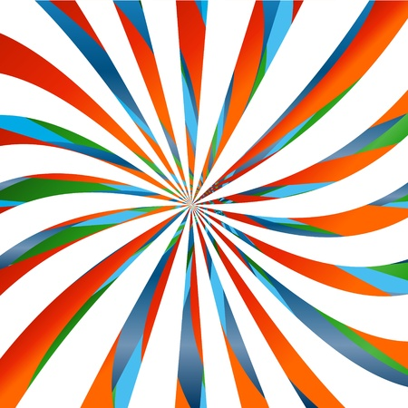 Abstract background from multi-colored twisting lines Vector