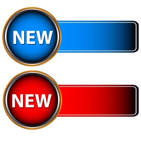 Les icônes rouges et bleu sur un fond blanc Banque d'images - 13175371