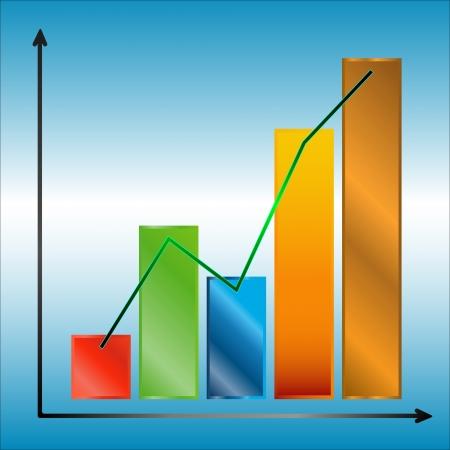 Multi-couleur graphique avec des lignes sur un fond bleu-blanc Banque d'images - 13275108