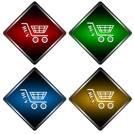 Set from four different icons a buy Stock Vector - 13378712