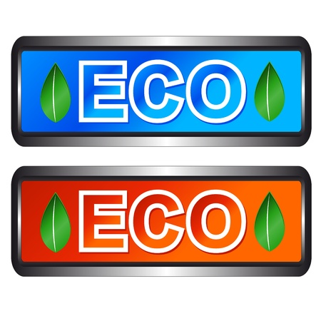 Eco symbols located on a blue background Stock Vector - 13454328
