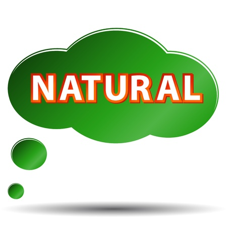 Green natural symbol located on a white background
