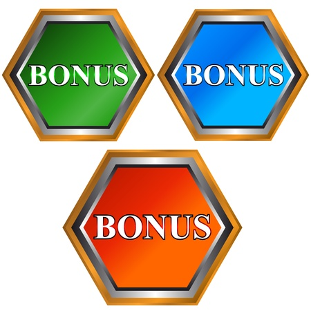 Bonus icons located on a white background Vector