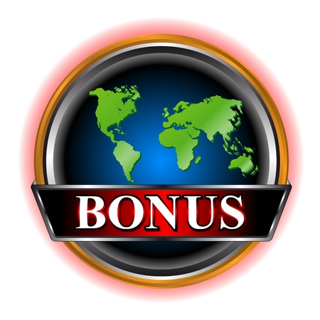 Unique bonus symbol located on a white background Vector