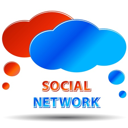 Social media network connection concept on a white background Stock Vector - 13794563