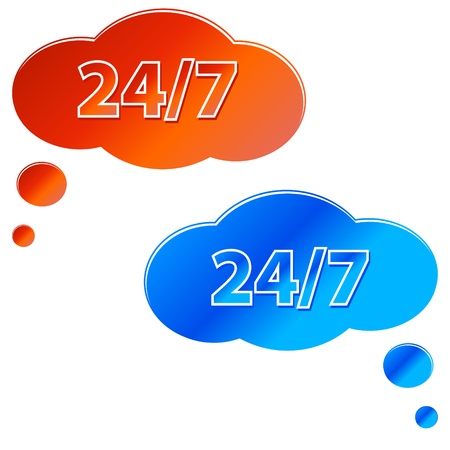 Two service icon in the form of clouds of different color Stock Vector - 13794570