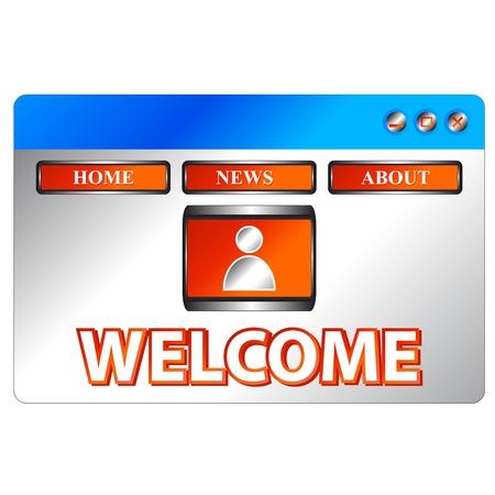 Design a page web in unique style Stock Vector - 13881908