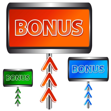 Three unique plates a bonus on a white background Stock Vector - 13906345