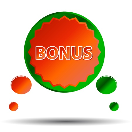 Bonus icon located on a white background Vector