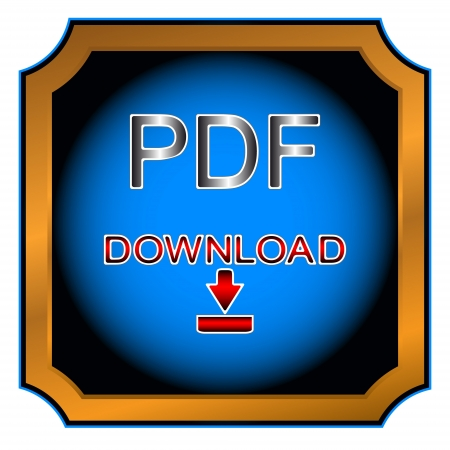 Blue button pdf download on a white background Stock Vector - 14296911