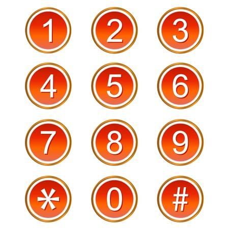 nulo: Red n�meros de iconos web sobre un fondo blanco