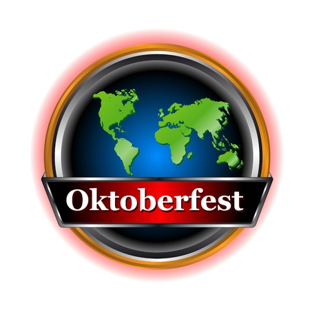 New signs Oktoberfest in unique style on a white background